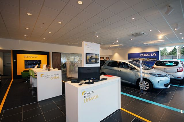 A commercial car showroom with fitted an advanced HVAC system
